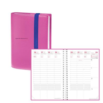 Agenda QUOVADIS TIME&LIFE POCKET rose Septembre - 10x15cm - 1 semaine sur 2 pages
