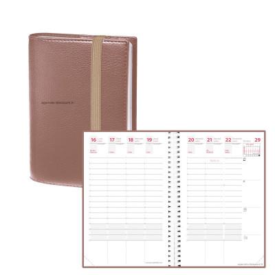 Agenda QUOVADIS TIME&LIFE POCKET cuivre Septembre - 10x15cm - 1 semaine sur 2 pages