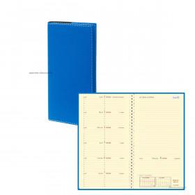 Agenda QUOVADIS ITALSEPT-S 8,8 x 17 cm - 1 semaine sur 2 pages couverture Club Bleu roi