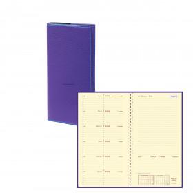 Agenda QUOVADIS ITALSEPT-S 8,8 x 17 cm - 1 semaine sur 2 pages couverture Club Violet Iris