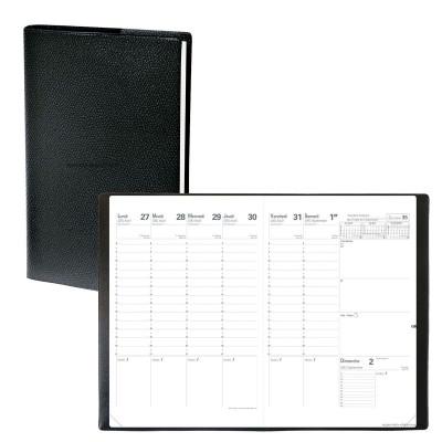 Agenda QUOVADIS Planning SD 18 x 24 cm 16 mois - 1 semaine sur 2 pages + répertoire