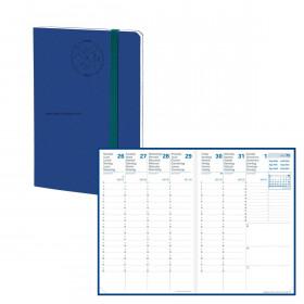 Agenda QUOVADIS AFFAIRE SD 10x15cm - 16 mois Everest vert bleu denim - 1 semaine sur 2 pages