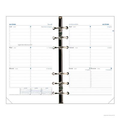 Recharge agenda QUOVADIS Timer 21 Horizontal 15x21cm janvier - décembre + supplément septembre à décembre 16 mois