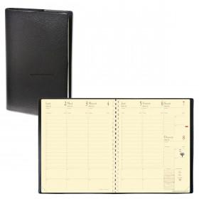 Agenda QUOVADIS MANAGER - Impala noir - 21x27cm - 1 semaine sur 2 pages + répertoire