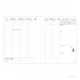 Recharge agenda QUOVADIS Président® 21 x 27 - 1 semaine sur 2 pages avec répertoire