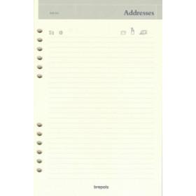 Recharge répertoire pour agenda BREPOLS Brefax 1 & 7 - 14,5x21cm