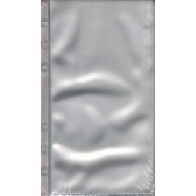 10 pochettes PVC transparentes pour agenda BREPOLS Brefax 11 & 17 - 9,5x17cm