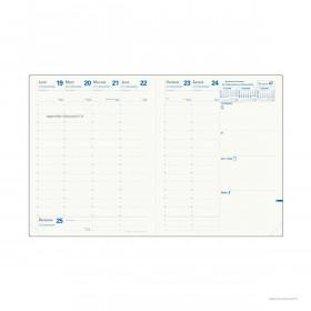 Recharge pour agenda QUOVADIS PRESIDENT Recyclé format 21x27cm