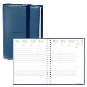 Agenda QUOVADIS TIME&LIFE XLARGE Time & Life - Bleu Métal - 21x27cm - 1 semaine sur 2 pages