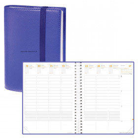 DESTOCKAGE-Agenda QUOVADIS TIME&LIFE XLARGE Time & Life - Violet - 21x27cm - 1 semaine sur 2 pages