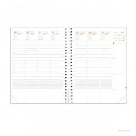 Recharge agenda QUOVADIS TIME & LIFE XL Large - 21x27cm - 1 semaine sur 2 pages Verticale
