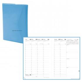 Agenda QUOVADIS MINISTRE Clover classic bleu - 16x24cm - 1 semaine sur 2 pages Verticale