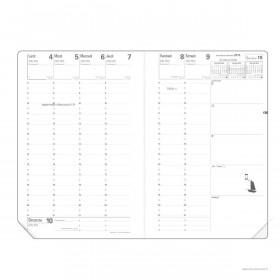 Recharge agenda +répertoire tranche or QUOVADIS Ministre 16x24 cm Janvier - Décembre 12 mois