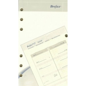 Recharge BREPOLS pour Brefax 17 - 1 semaine sur 2 pages horizontale - 9,5x17cm