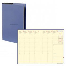 Agenda QUOVADIS MINISTRE Prestige Soho Bleu ardoise - 16x24cm - 1 semaine sur 2 pages Verticale