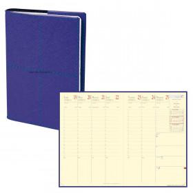 Agenda QUOVADIS MINISTRE Prestige Verona Indigo - 16x24cm - 1 semaine sur 2 pages Verticale