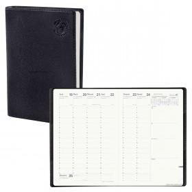 Agenda QUOVADIS MINISTRE Recyclé noir - 16x24cm - 1 semaine sur 2 pages