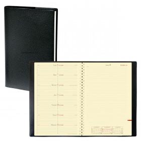 Agenda QUOVADIS NOTE 24 S à spirale - Impala noir - 16x24cm - 1 semaine sur 1 page + NOTES + répertoire