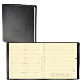 Agenda QUOVADIS NOTE 16 S à spirale - Impala noir - 16x16cm - 1 semaine sur 1 page + NOTES + répertoire