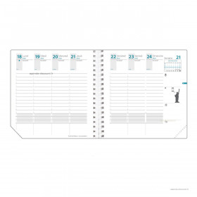Recharge pour agenda QUOVADIS TIME&LIFE MEDIUM format 16x16cm