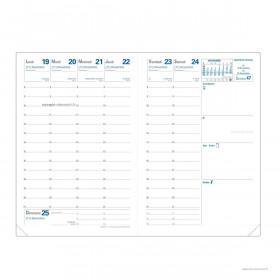 Recharge QUOVADIS agenda Affaires tranche dorée QUOVADIS 10x15 cm - 1 semaine sur 2 pages
