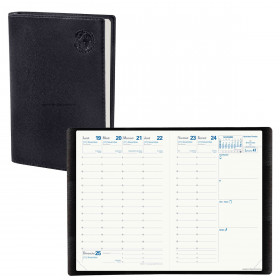 Agenda QUOVADIS AFFAIRES Recyclé noir - 10x15cm - 1 semaine sur 2 pages