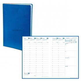 Agenda QUOVADIS AFFAIRES Toscana bleu nautic - 10x15cm - 1 semaine sur 2 pages