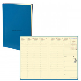Agenda QUOVADIS AFFAIRES Prestige Toscana bleu nautic - 10x15cm - 1 semaine sur 2 pages