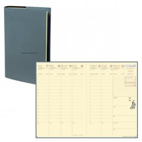 Agenda QUOVADIS AFFAIRES PRESTIGE Soho Kaki - 10x15cm - 1 semaine sur 2 pages Verticale