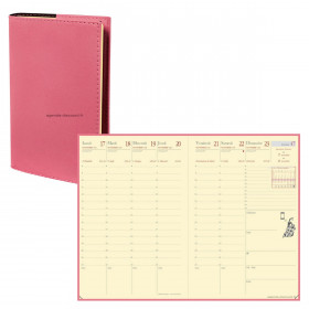 Agenda QUOVADIS AFFAIRES PRESTIGE Soho Rose - 10x15cm - 1 semaine sur 2 pages Verticale