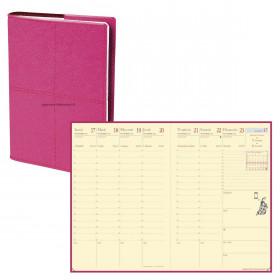 Agenda QUOVADIS AFFAIRES PRESTIGE Verona Rose - 10x15cm - 1 semaine sur 2 pages Verticale