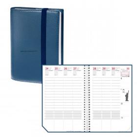Agenda QUOVADIS TIME&LIFE POCKET Bleu métal - 10x15cm - 1 semaine sur 2 pages