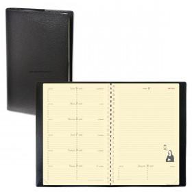 Agenda QUOVADIS NOTE 15 S à spirale - Impala noir - 10x15cm - 1 semaine sur 1 page + NOTES + répertoire