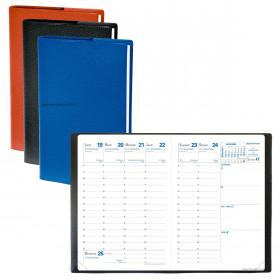 Agenda QUOVADIS Randonnée® - 9x12,5cm + répertoire - 1 semaine sur 2 pages (COLORIS ALEATOIRES)