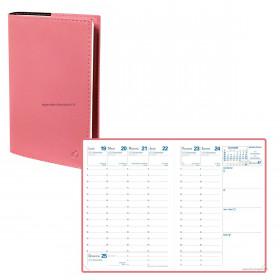 Agenda QUOVADIS RANDONNEE Soho Rose - 9x12,5cm - 1 semaine sur 2 pages Verticale