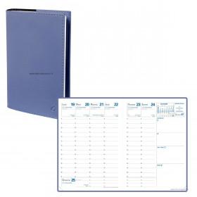 Agenda QUOVADIS RANDONNEE Soho Bleu ardoise - 9x12,5cm - 1 semaine sur 2 pages Verticale