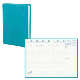 Agenda QUOVADIS RANDONNEE Recyclé bleu lagon - 9x12,5cm - 1 semaine sur 2 pages
