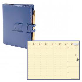 Agenda QUOVADIS RANDONNEE Prestige Soho Bleu ardoise - 9x12,5cm - 1 semaine sur 2 pages Verticale