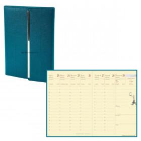 Agenda QUOVADIS RANDONNEE PRESTIGE VENEZIA - 9x12cm - JADE - 1 semaine sur 2 pages