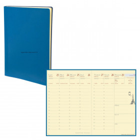 Agenda QUOVADIS RANDONNEE Prestige Toscana bleu nautic - 9x12,5cm - 1 semaine sur 2 pages