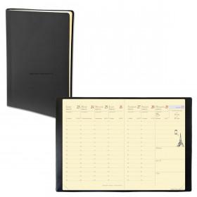 Agenda QUOVADIS RANDONNEE PREST - 9x12,5cm - 1 semaine sur 2 pages couverture TOSCANA NOIR