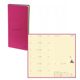 Agenda QUOVADIS ITALNOTE - 8,8x17cm - 1 semaine sur 1 page + NOTES TOSCANA FUSCHIA