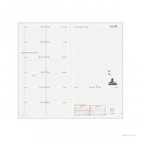Recharge agenda QUOVADIS ITALNOTE Recyclé 1 semaine sur 1 page + NOTES 8,8x17cm