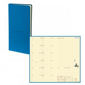 Agenda QUOVADIS ITALNOTE Toscana bleu nautic - 8,8x17cm - 1 semaine sur 1 page + NOTES