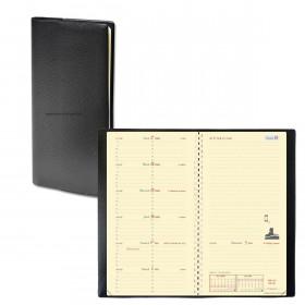 Agenda QUOVADIS Italnote «S» spirale 8,8x17cm - 1 semaine sur 1 page + NOTES - NOIR