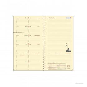 Recharge pour agenda QUOVADIS ITALNOTE S à spirale format 8,8x17cm