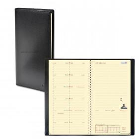Agenda QUOVADIS ITALNOTE S à spirale - Soho noir ebene - 8,8x17cm - 1 semaine sur 1 page + NOTES + répertoire