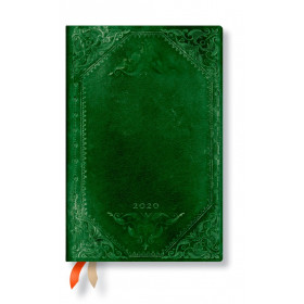 Agenda PAPERBLANKS Cape de Velours Uni - Mini - 95×140mm - 1 semaine sur 2 pages vertical