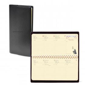 Agenda QUOVADIS PLANITAL - Impala noir - 8,8x17cm - 1 semaine sur 2 pages + répertoire