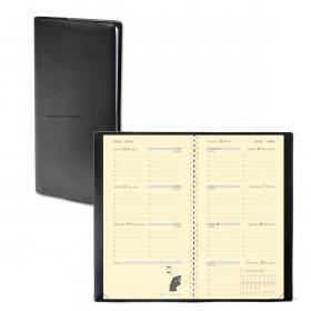 Agenda QUOVADIS PLANORIZON - Impala noir - 8,8x17cm - 1 semaine sur 2 pages + répertoire